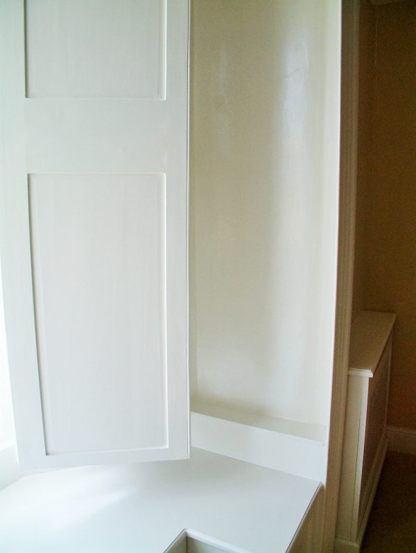 After photo of a shutter on a period window painted and restored by Impressions Painters and Decorators