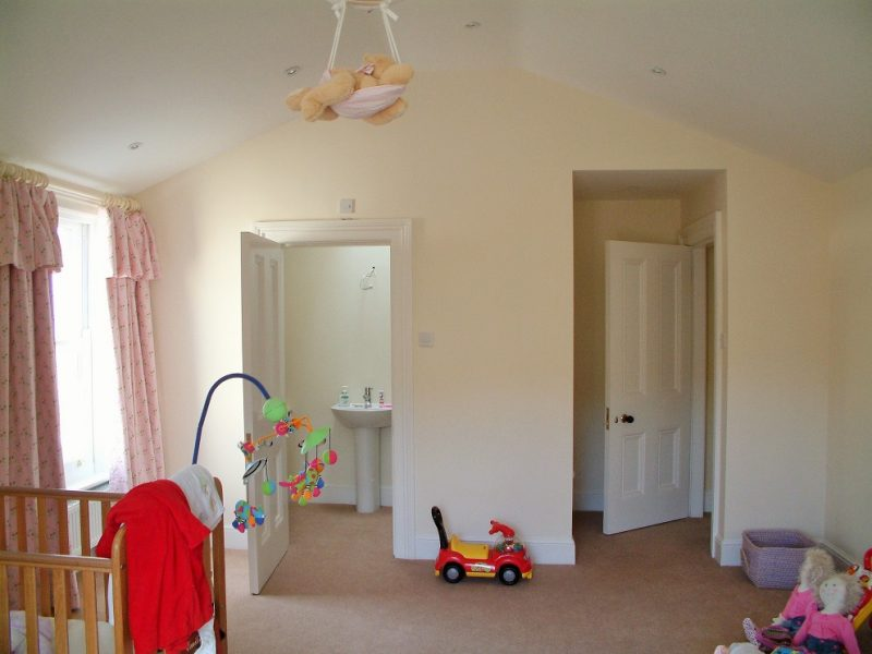 New woodwork after being painted by Impressions Painters and Decorators