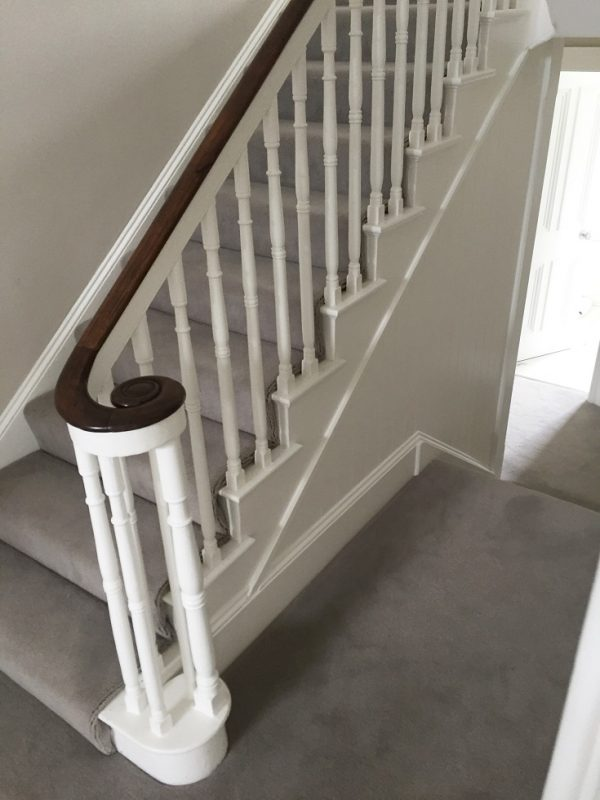 Fully painted and restored handrail and staircase in Georgian period home by Impressions Painters and Decorators