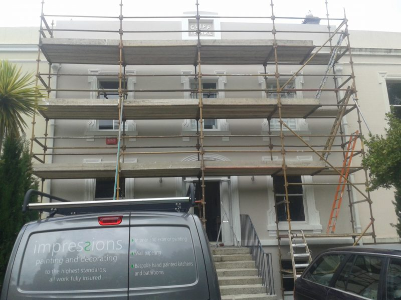 When is scaffolding necessary for painting the exterior of a house blog by Impressions Painting and Decorating