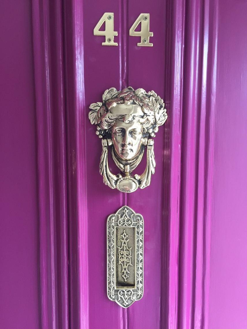 After photo of a period door restoration and period door brass restoration by Impressions Painting and Decorating Dublin