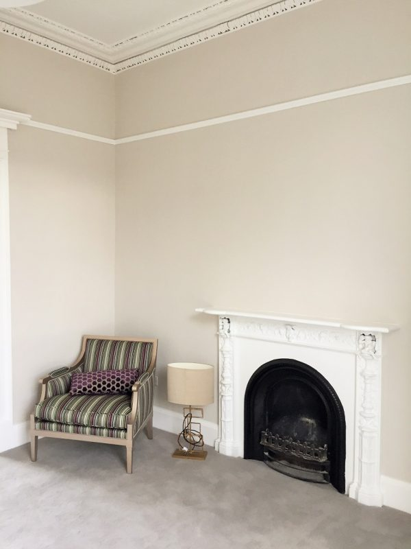 After photo of a newly painted room in a period house by Impressions Painters and Decorators in Ranelagh