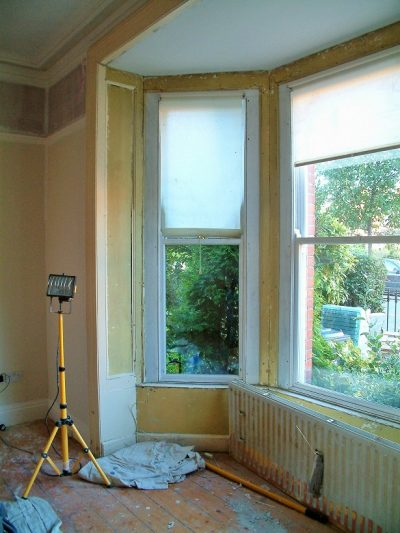 Before photo of period window painting and restoration in Ranelagh by Impressions Painting and Decorating