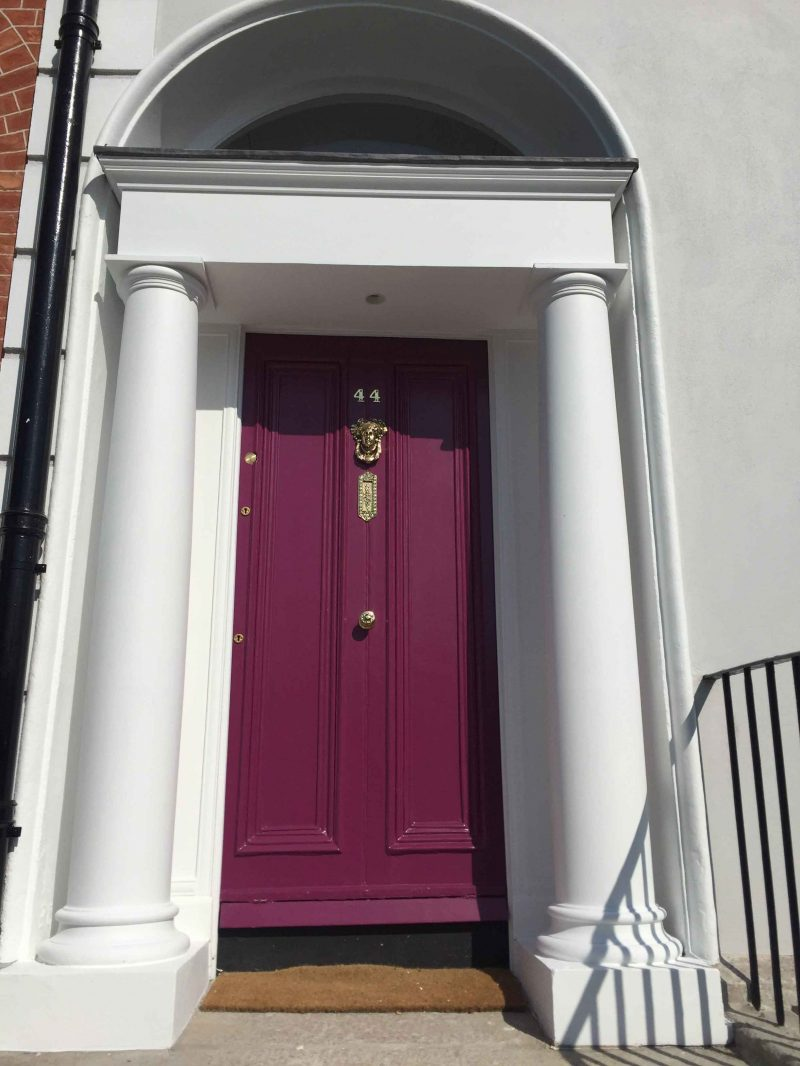 Fully restored period Georgian door restored by Impressions Painters and Decorators in Ranelagh Dublin