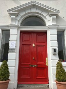 Fully restored period front door and brasses in Monkstown by Impressions Painting and Decorating