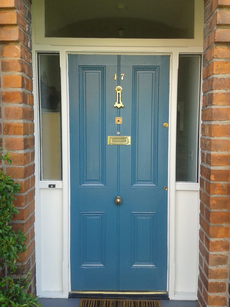 Painted and restored door in Sandymount by Impressions Painters and Decorators South Dublin