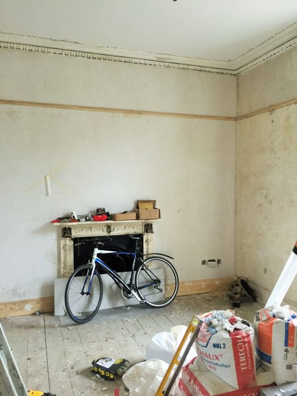 Photo of a room before being painted in a period house by Impressions Painters and Decorators in Ranelagh