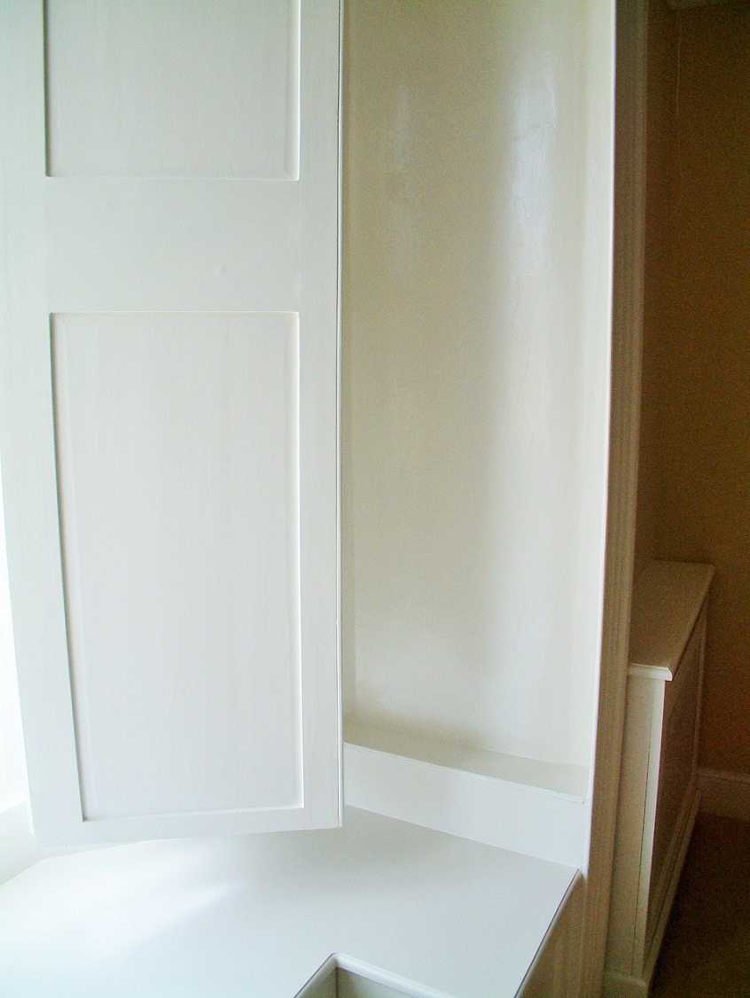 After photo of a period window and shutter painted and restored by Impressions Painters and Decorators