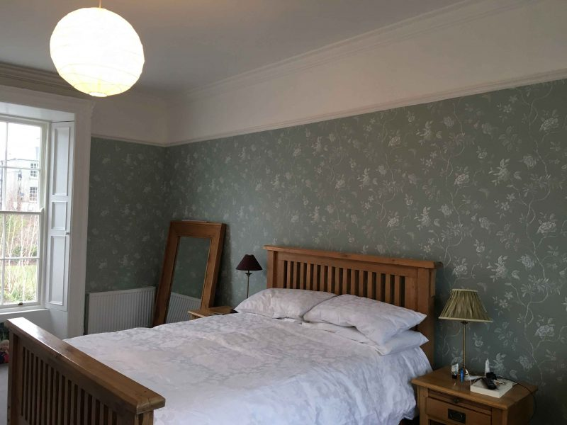 Bedroom wallpapering and painters in Dublin Impressions Painting and Decorating