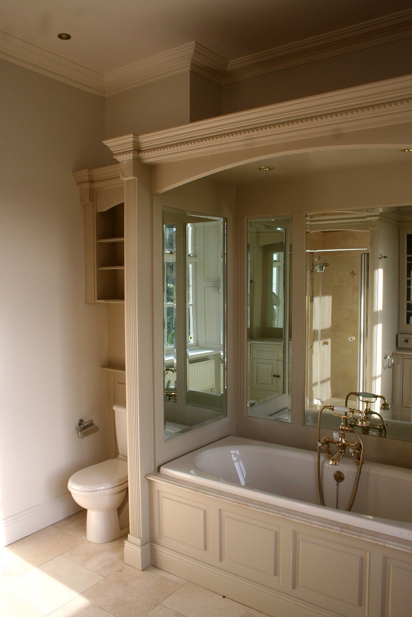 Bespoke hand painted bathroom units and furniture in Enniskerry Co. Wicklow by Impressions Painters and Decorators