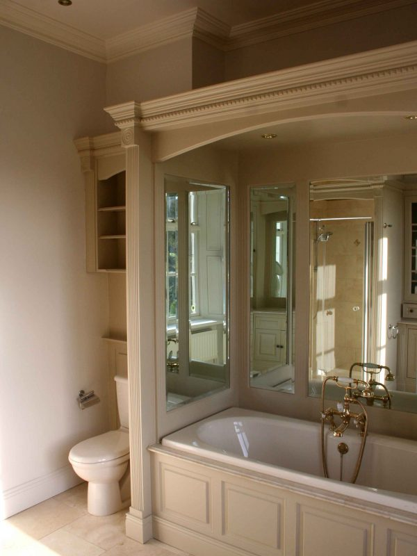 Bespoke hand painted bathrooms and bathroom units and furniture painters by Impressions Painters and Decorators in Dublin