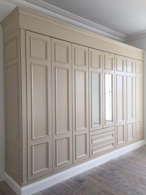Bespoke hand painted bedroom wardrobe painters in Dun Laoghaire Dublin by Impressions Painters and Decorators