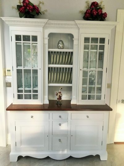 Bespoke hand painted kitchen unit painters and decorators Impressions Painting and Decorating in Dublin