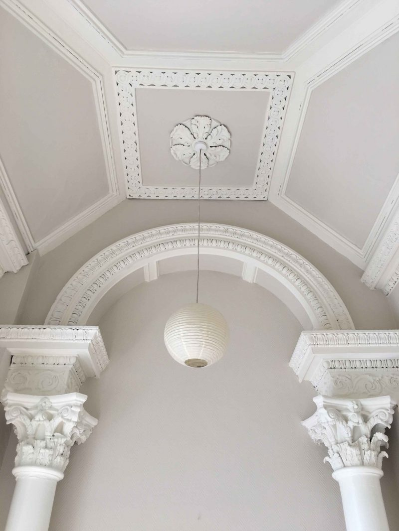 Ceiling and cornice restoration in a period house South Dublin by Impressions Painters and Decorators