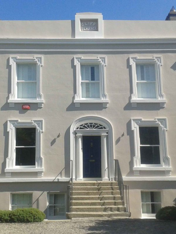 Exterior period house painting and restoration by Impressions Painters and Decorators in Dublin