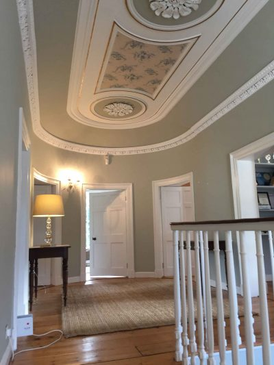 Hall stairs and landing restoration by professional period house restorers Impressions and Impressions in Dublin