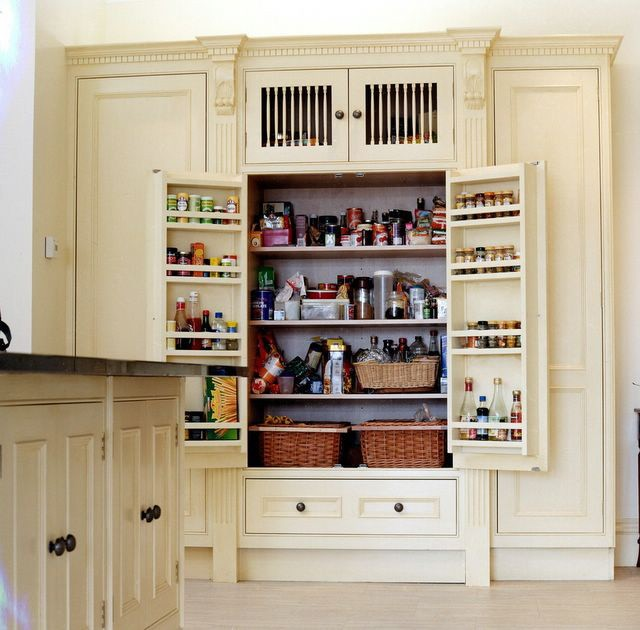 Hand painted bespoke kitchen furniture pantry by Impressions Painters and Decorators in Monkstown Co. Dublin