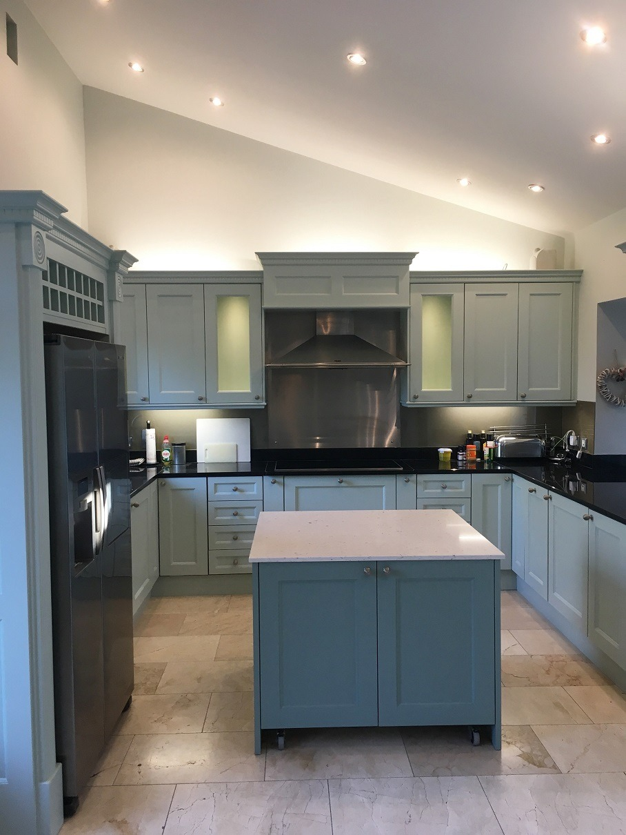 Hand painted kitchen painters in Dublin Impressions Painters and Decorators Kitchen Painters