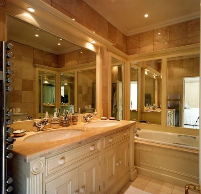 Hand-painted period bathroom furniture painters and decorators Impressions Painters and Decorators South Dublin