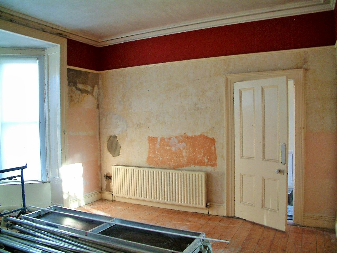 How to strip wallpaper blog by Impressions Painters and Decorators before photo