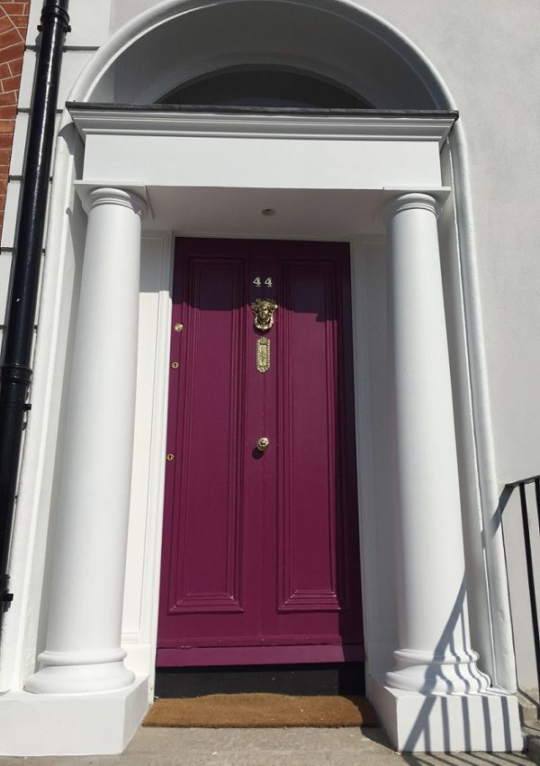 Period door and Georgian door restoration by Impressions Painters and Decorators in Dublin