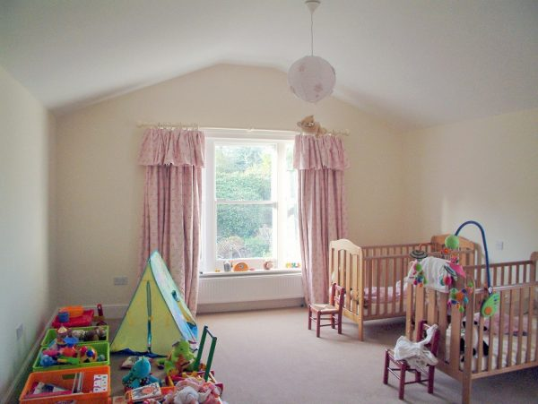 A new nursery bedroom extension painted and finished by Impressions Painters and Decorators