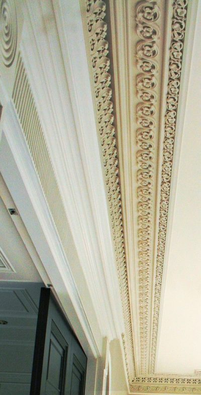 Cornice painters and restorers in a period house by Impressions Painting and Decorating in South Dublin