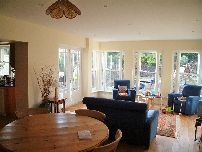 Freshly painted and decorated new extention by Impressions Painters and Decorators in Dalkey