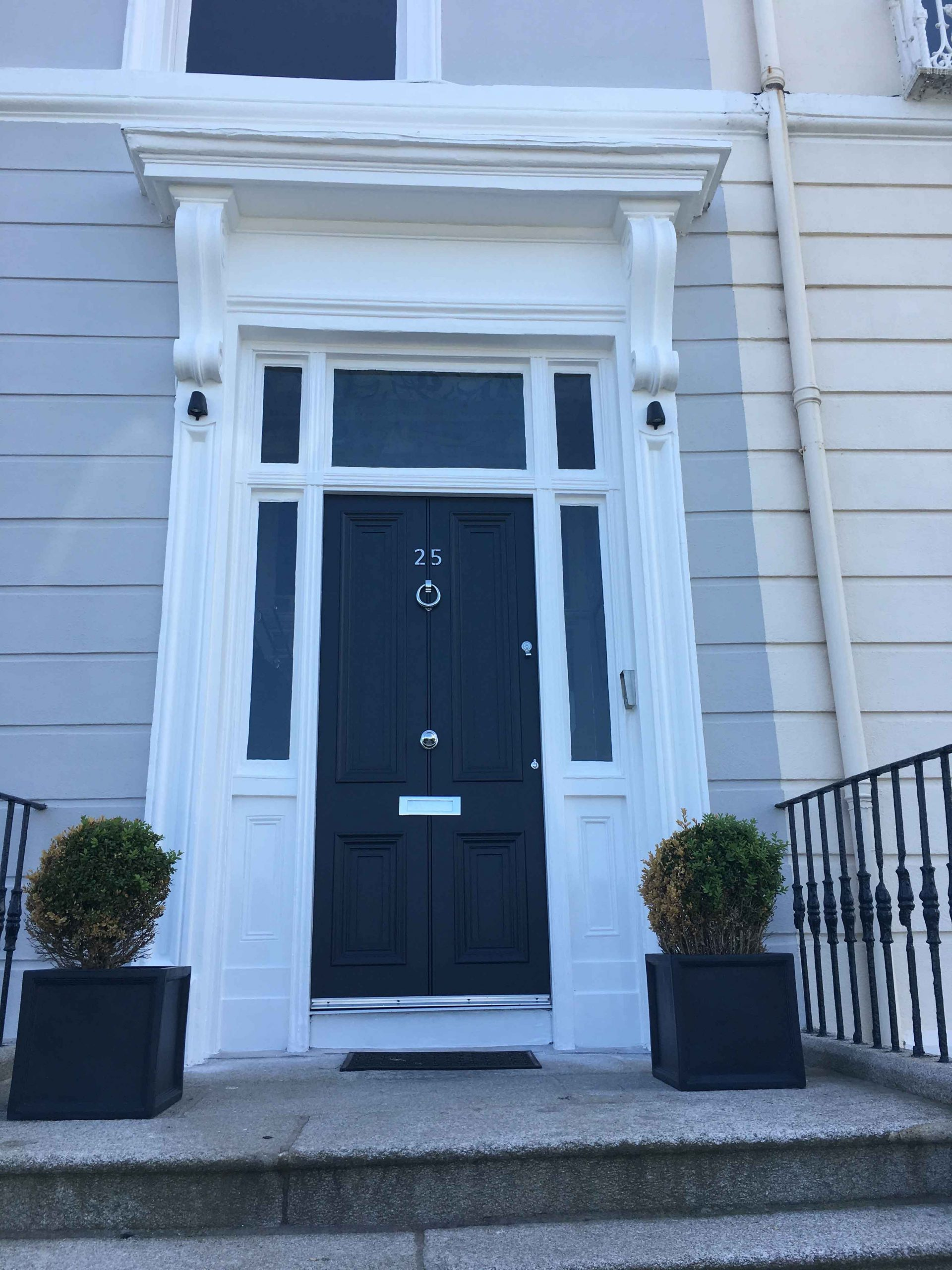 Georgian period door painting and restoration by Impressions Painters and Decorators in Blackrock Dublin