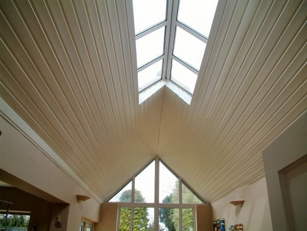 How to brighten up a room by painting a wooden ceiling by Impressions Painters and Decorators in Cabinteely