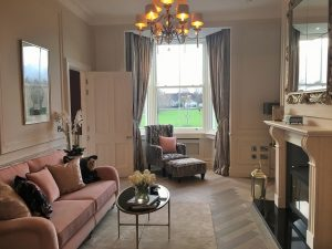 Living room in a show house painted by Impressions Painters and Decorators in Dun Laoghaire