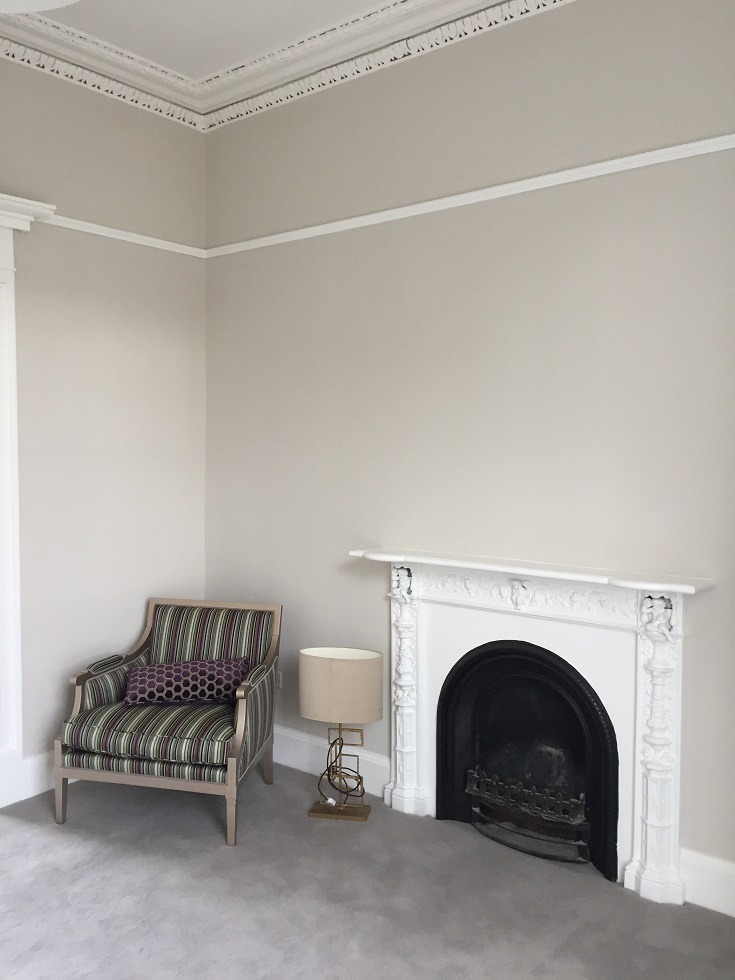 Newly restored living room in a period house by Impressions Painting and Decorating in Ranelagh