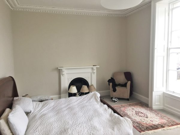 Painted and re-decorated period house bedroom in Ranelagh by Impressons Painting and Decorating