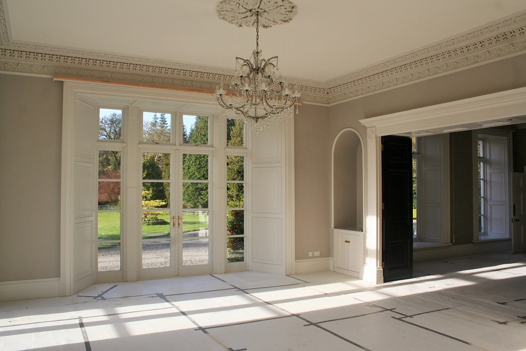 Period house living room painted and decorated by Impressions Painters and Decorators in Enniskerry Co. Wicklow
