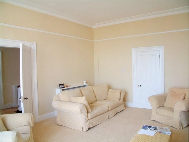 Period house painting and decorating - living room painted and restored by impressions Painters and Decorators in Dalkey