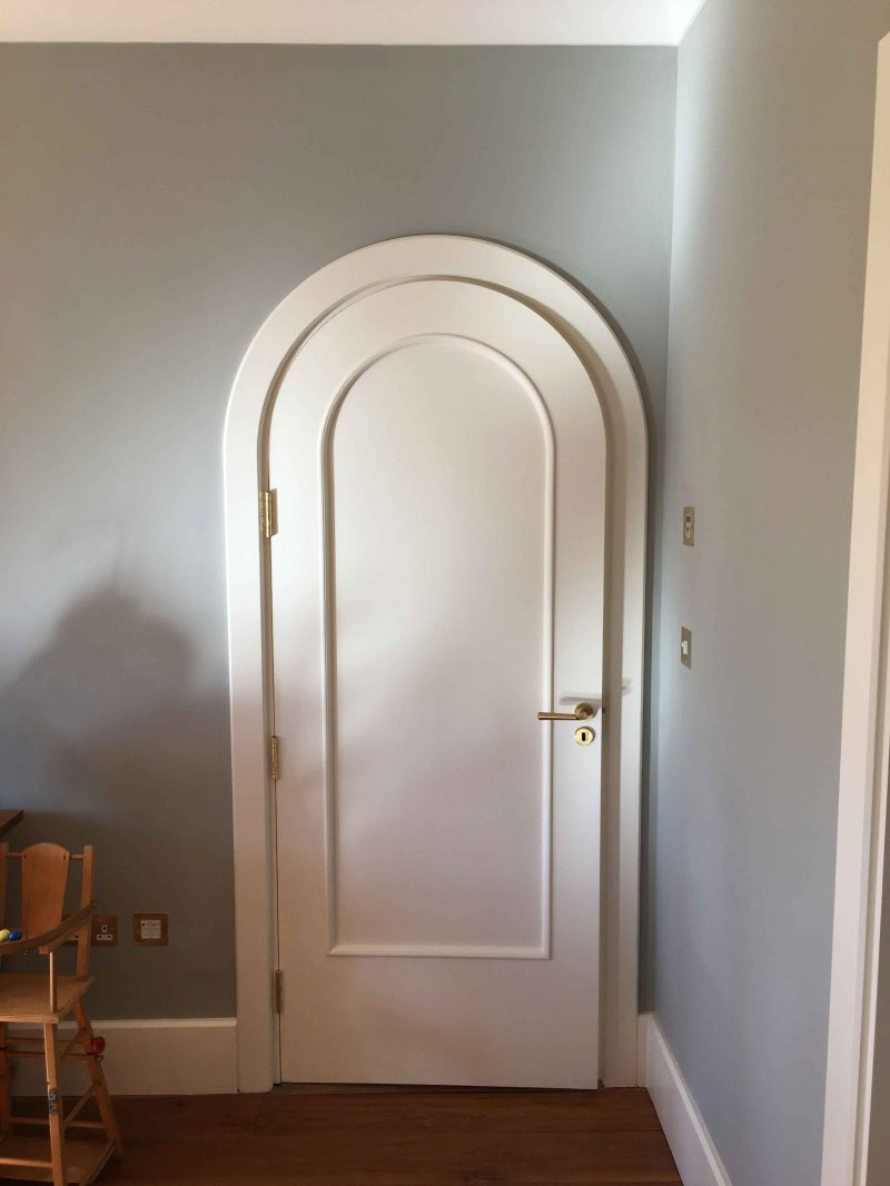 Period interior door painted and restored by Impressions Painters and Decorators in Enniskerry