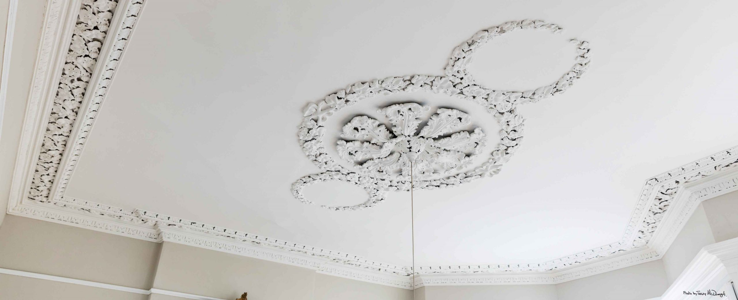 Restored ceiling and cornicing by Impressions Painting and Decorating