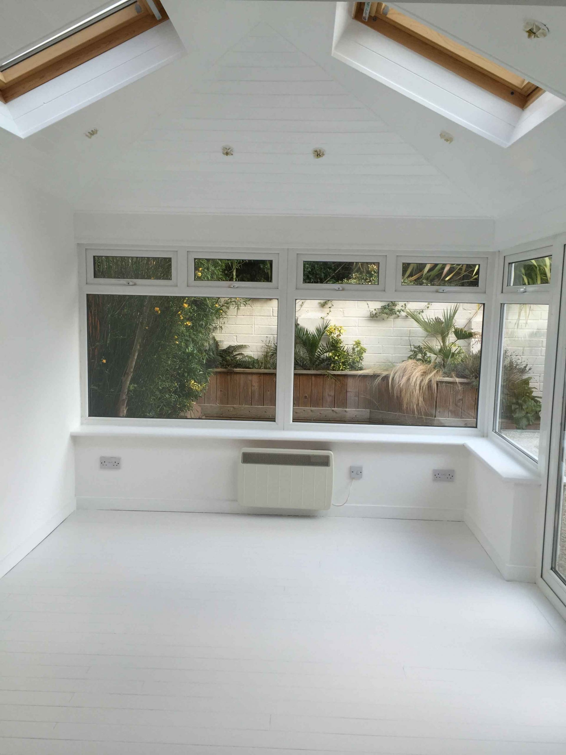 Wooden ceiling painting by Impressions Painters and Decorators in Wicklow